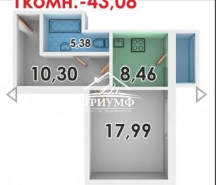 Продается 1но комнатная квартира на Таврическом в Новострое.