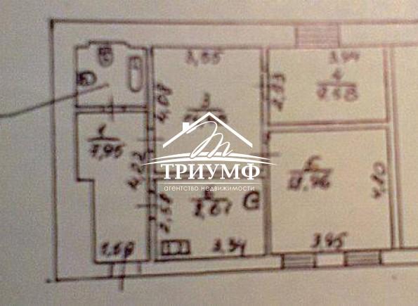3-комнатная квартира площадью 64 кв.м. в Центре города!