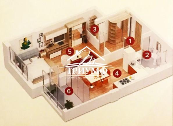 1-комнатная квартира в районе Таврического в новострое.