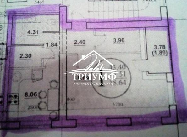 1-комнатная квартира площадью 50 кв.м. в районе ХБК!