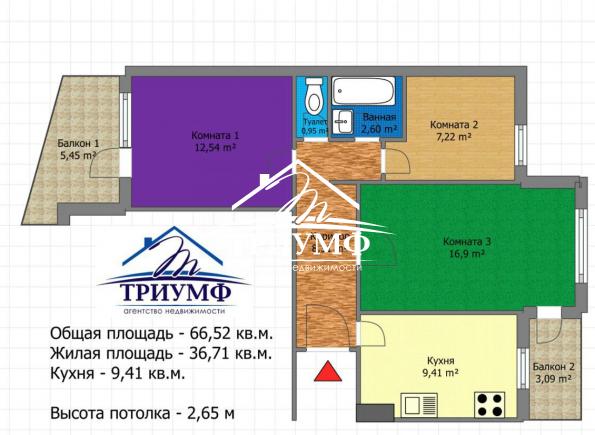3-х комнатная на Таврическом. Район Автовокзала.