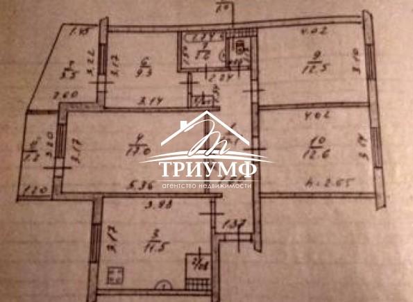 4-комнатная квартира на среднем этаже в районе ХБК!