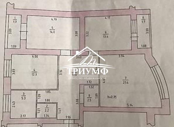 3-комнатная квартира в новом доме по улице 49-й Гвардейской Дивизии!