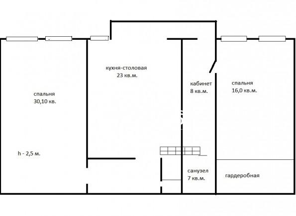 Просторная 2хкомнатная квартира 105 кв.м. на Новом Острове