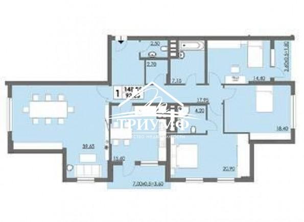 Без комиссии! 4-комнатная квартира в новом доме по улице Филатова!