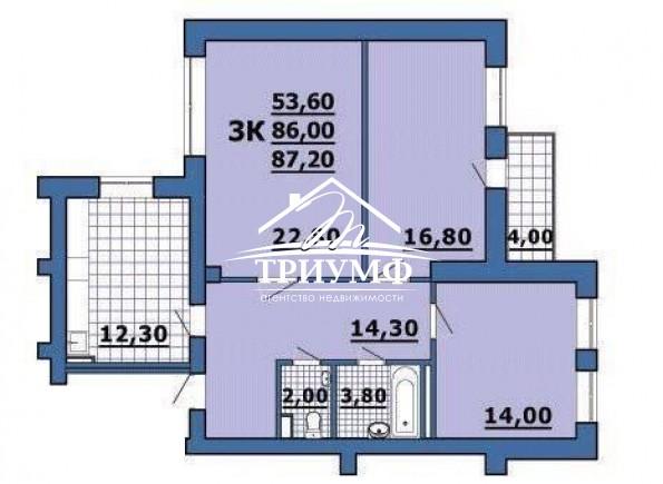 3-комнатная квартира в новострое по 200 лет Херсона !