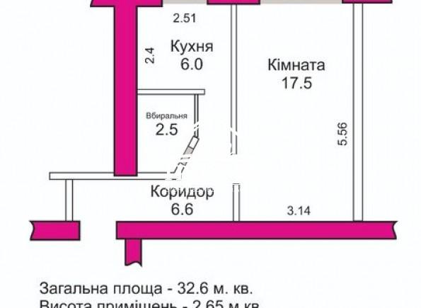 1-комнатная квартира в районе ЖД вокзала