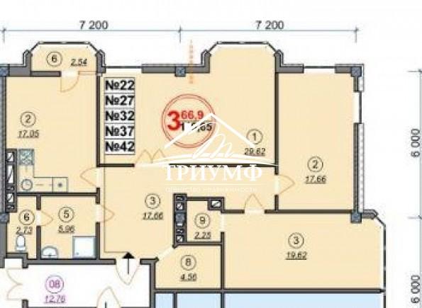 Просторная квартира 120 кв.м.!