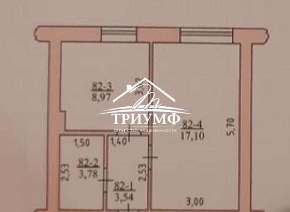 1-комнатная квартира в новострое с автономным отоплением