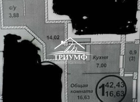 1 комнатная квартира в новостройке на Жилпоселке!