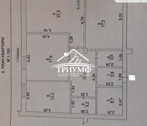 Продается 3-х комнатная квартира в новострое в районе Таврического можно под Бизнес.